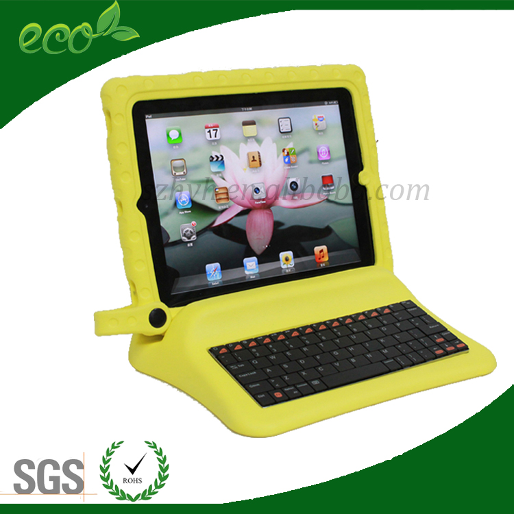 waterproof kids bumper multi functions 10 inch rubber keyboard tablet case EVA pc tablet case for ipad 2 ipad 3 ipad 4