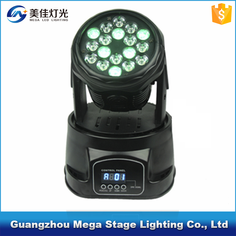 pro dmx 18 3w rgb disco mini moving head flight case