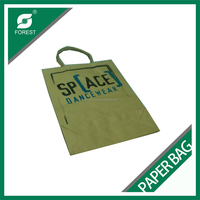 110 GSM BROWN KRAFT PAPER BAG CUSTOM PRINT SHOPPING BAGS FOR PACKING APPAREL