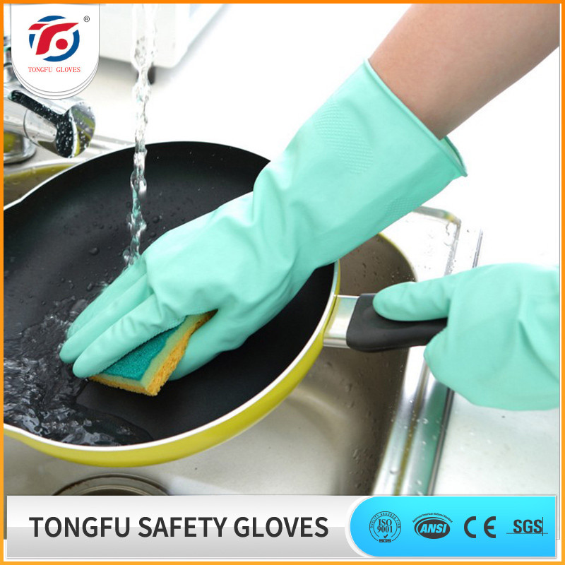 Long Cuff Household Rubber Cleaning Natural Latex Glove