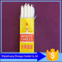 west africa box package white bright candles 35g -45g