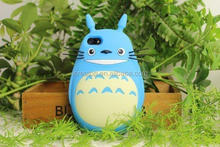 Fashion cute Totoro 3D cartoon silicone phone case ,soft rubber unbreak case for mobile phone