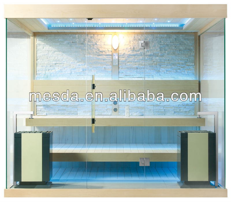 New Design Traditional Sauna Room (Three Sides Full Glass) WS-1240 CE TUV