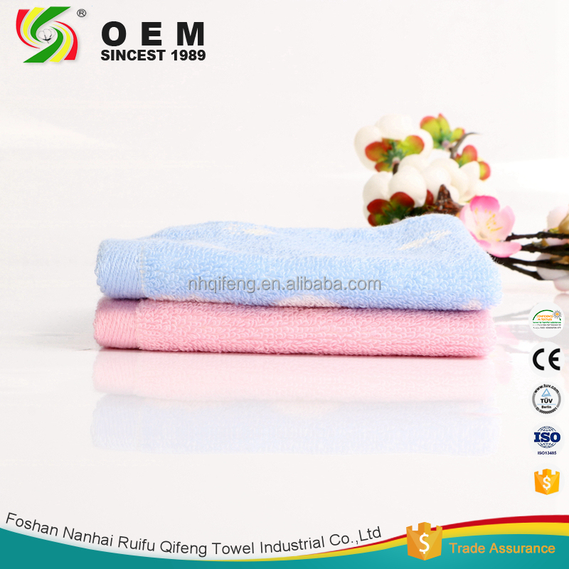 Embroidered 100 cotton small face towels customised size