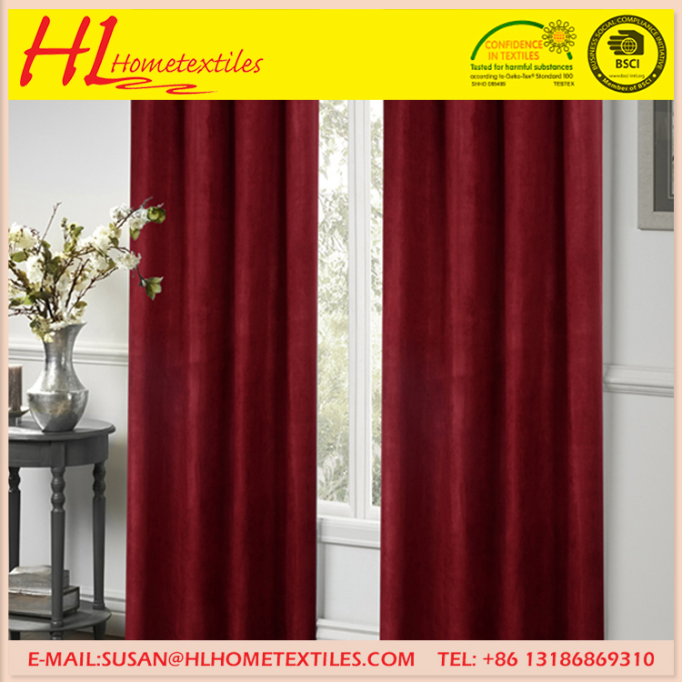 Home textiles fashion the latest design faux suede office window curtain,material /color/size custom curtain