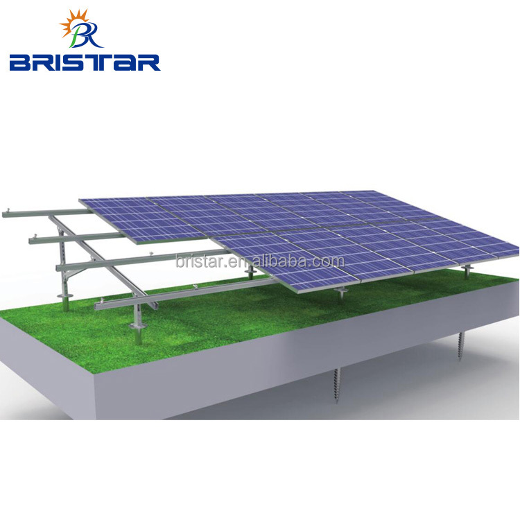 Adjustable Angle pile ground Solar Mounting for tablet pc