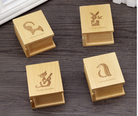 2016 most popular wood wedding favors music box