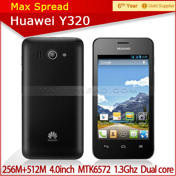 with english box 4 inch Huawei Y320 Dual Core 1.3GHz Android 4.2 IPS Touchscreen new arrival mtk 6572 smart phone