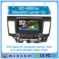 "2016 new Good quality for Mitsubishi Lancer car gps navigation system android 8"" car navigator Multimedia Rear View Camera CE"