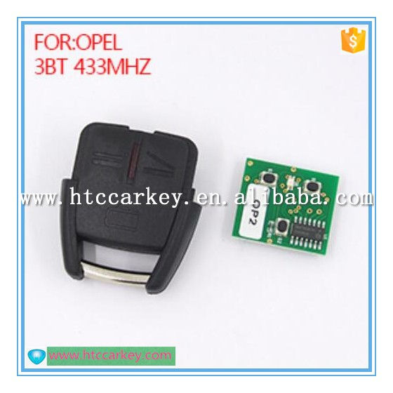 Auto remote 433 mhz for opel 3 button car key