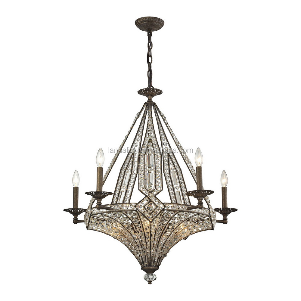 American elk unique crystal chandelier lamp