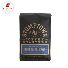 simple texture paper packaging 12oz coffee bag with stand up