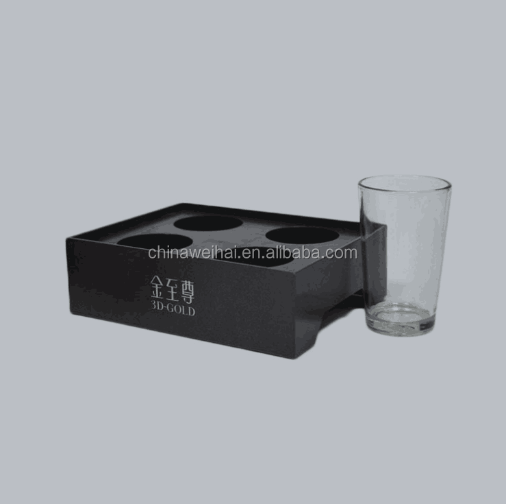 Black Acrylic Champagne Glass Holder