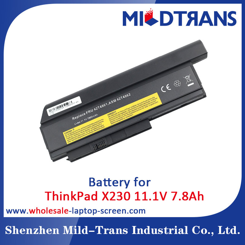 Wholesale 100% Tested Laptop Battery for Lenovo ThinkPad X230
