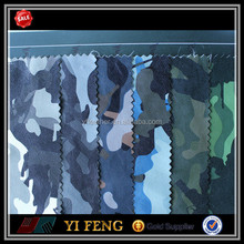 high class elastic camouflage leather material