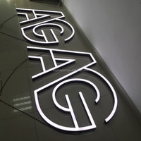 LED acrylic light channel letters outdoor 3d acrylic front lit LED shop sign
