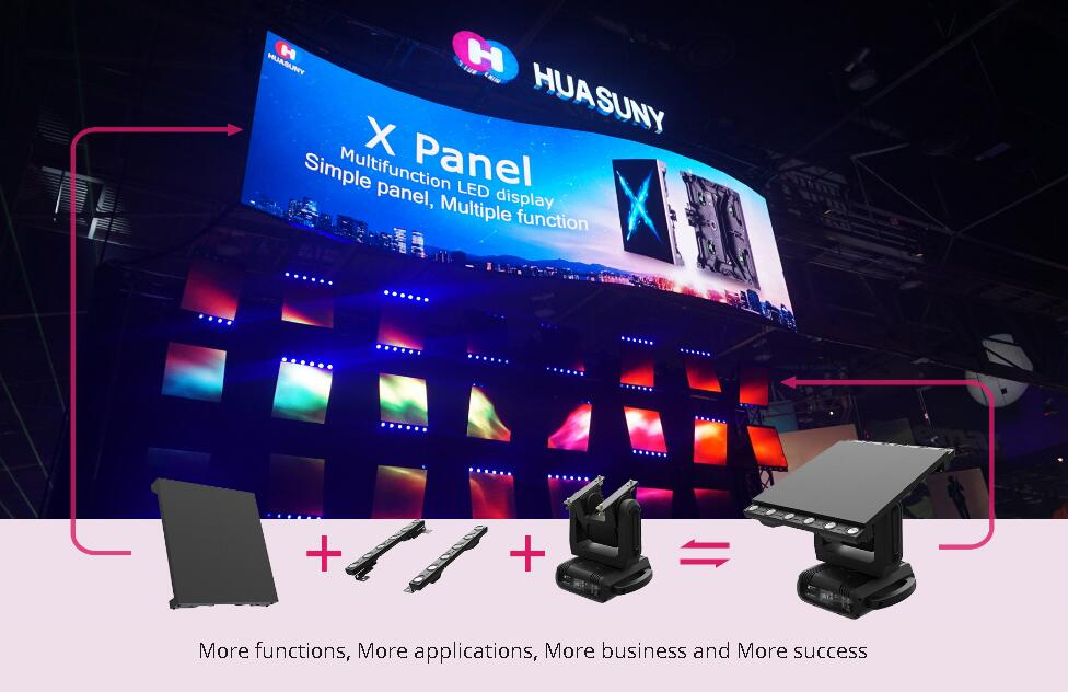 dancing moving led head creative stage led panel Huasuny
