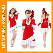 PGWC1946 Wholesale Cheap Christmas Costume For Adults Santa Claus Costume