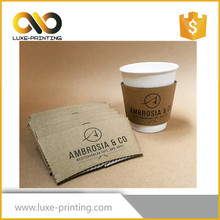 Durable recycled customized cardboard takeaway coffee paper cup holder