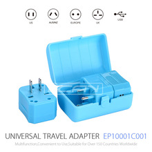 All in One Universal International Plug Adapter / World Travel AC Power Charger Adaptor with AU US UK EU Plug