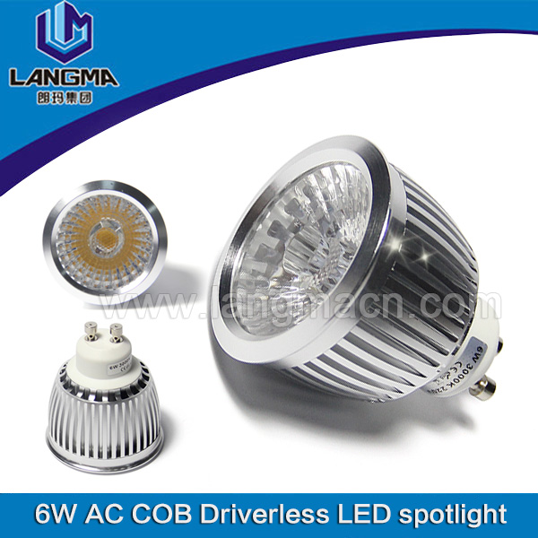 6w driverless cob tuv saa AC110V GU10 LED Spot Light