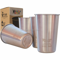 4 pack stainless steel cups, bpa free stainless steel pint glass cup tumbler, wholesales stainless steel pint cups tumbler