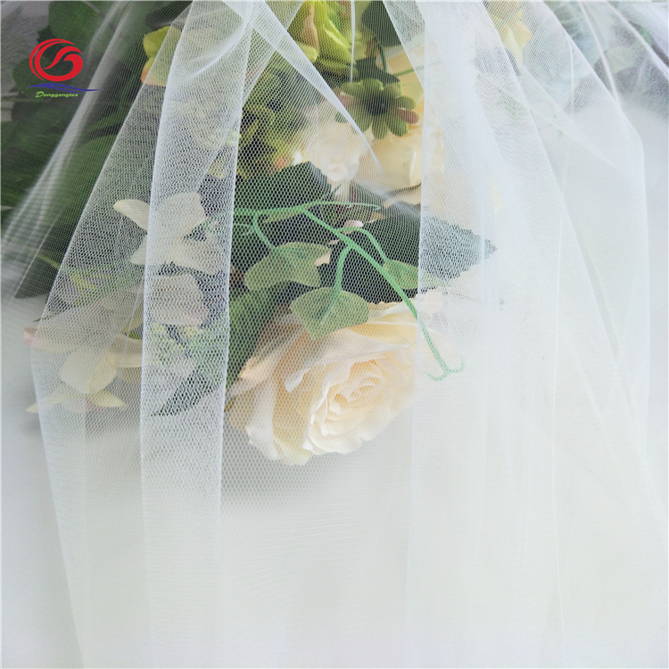 Factory wholesale multifunctional 100% polyester fabric 20D mesh tulle fabric