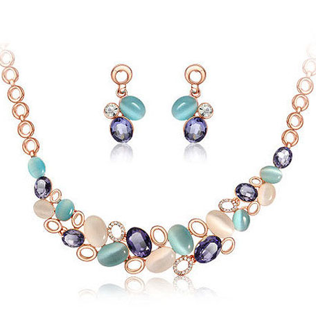 Samll business factory costume jewelry necklace and earring <strong>sets</strong>