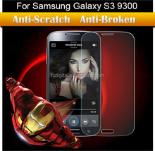 Wholesale anti-scratch 9H premium tempered glass film screen protector for Samsung galaxy S3 9300 I9300 Ebour