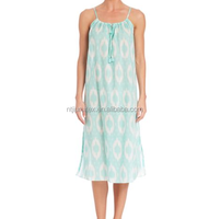 Women's Cotton Voile Printed Tank Night Gown