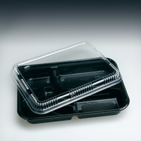 4 Compartment Bento Lunch Box Disposable