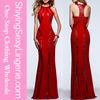 Latest Designs Sexy Elegant Sequin Trim Red ball Gown Wedding Dresses