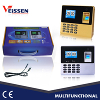 TCP/IP port USB optional color screen biometric time attendance system with battery
