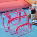 Custom travel fashion clear cosmetic bag pvc, Clear pvc cosmetic bag personalized