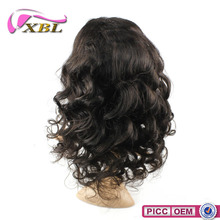 Charming hair style shedding free 7A virgin hair Peruvian full lace wig