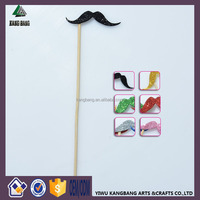 Photo Booth Supplies Mustache Stick Red Lips Stick Wedding/Party POLYMER CLAY Moustache/Lips on a stick Decoration Mix Colors