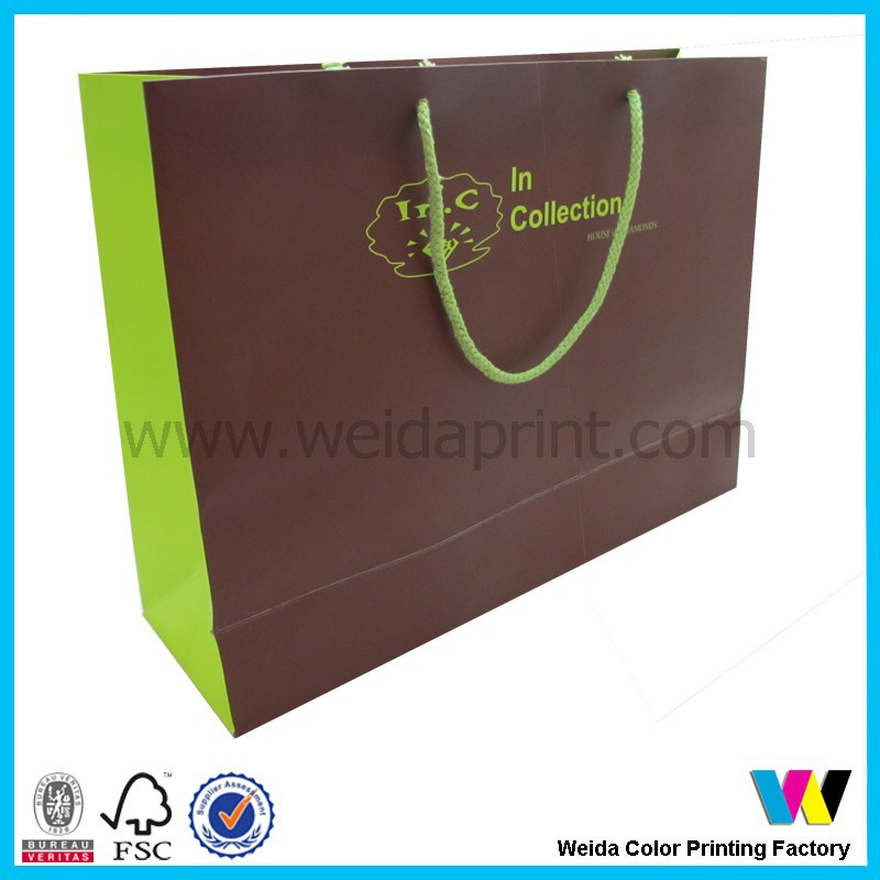 customized design apparel paper packaging bag