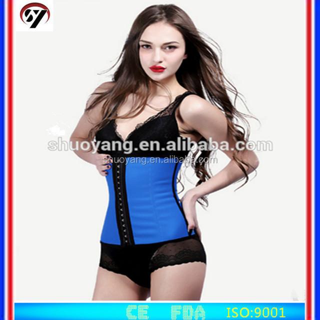 SHUOYANG Sexy Women Underwear Corset Bustier Body Shapers, 9Steel boned latex waist trainers