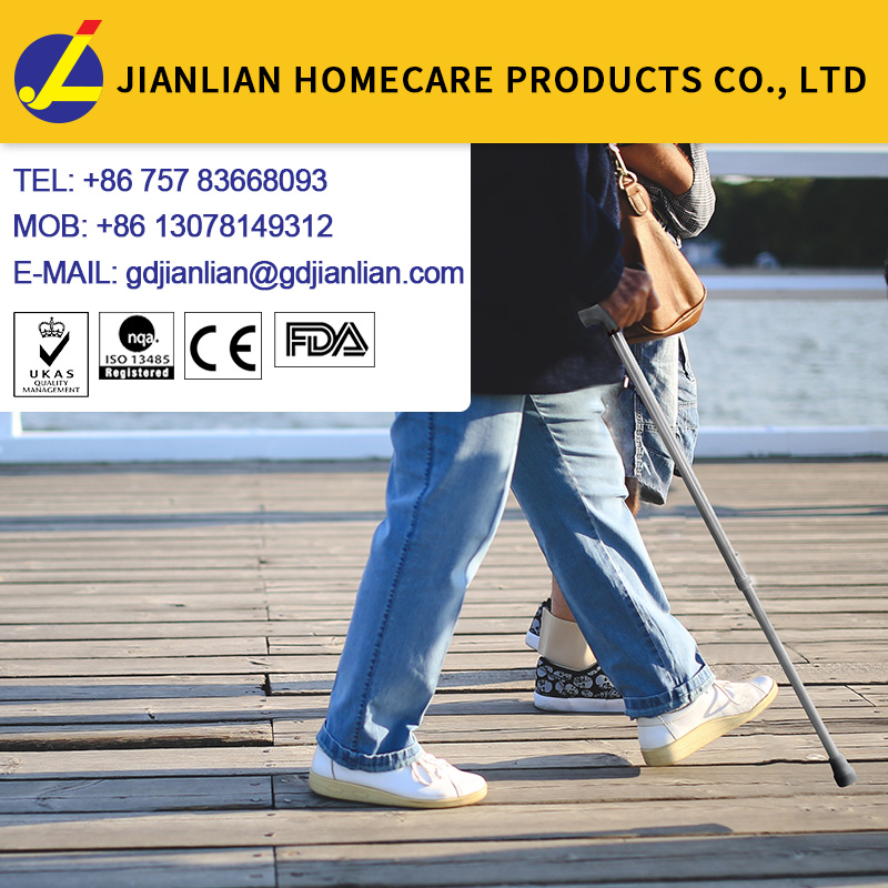 Aluminium adjustable walking cane,smart crutch,,handle walking stick