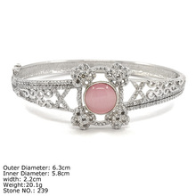 [ CZQ-0058 ] Ross Quartz Bangle in square shape Cute Bangle