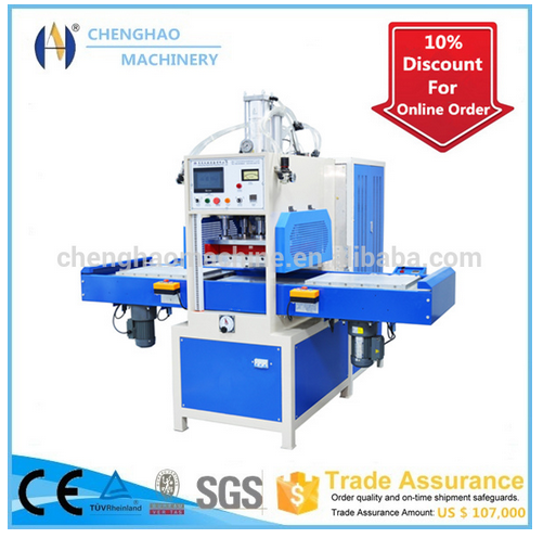 Shoes upper screnn printing making machine with welding and cutting function export to Austria