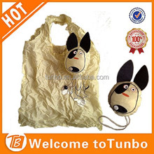 Dog shape shopping bag cute foldable bag polyester shopping bag wholesale
