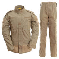 Khaki/sand ACU style shirt pants 65/35 poly/cotton ripstop - army uniforms for sale