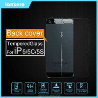Back Cover Tempered Glass Screen Protector For iPhone 5/5C/5S Anti-shutter&Cracked 9H 0.33mm for iPhone 5/5C/5S