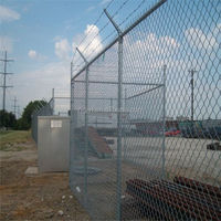 Welded steel wire fence for border military