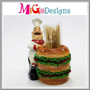 best selling Polyresin sticker holder tableware decoration