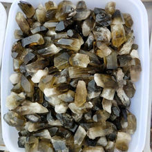 Natural rough raw black citrine little points/wands for sale small size