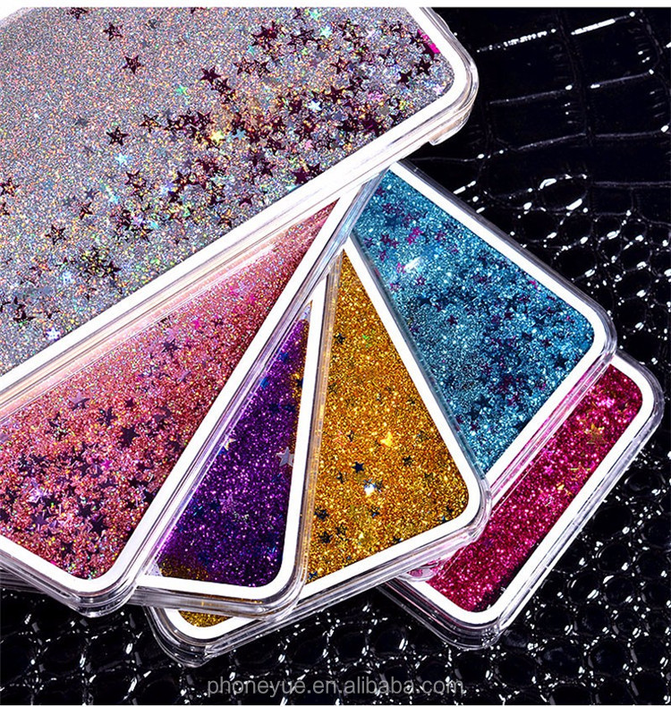 Hot Sale 3D Transparent Clear Glitter Stars Dynamic Liquid Quicksand Hard Phone Case for LG G3