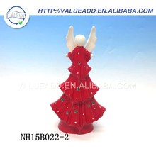 Best price porcelain gold angel christmas tree ornament fashion designed