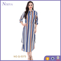 Grace Long Sleeve Striped Colorful Long Dress for women